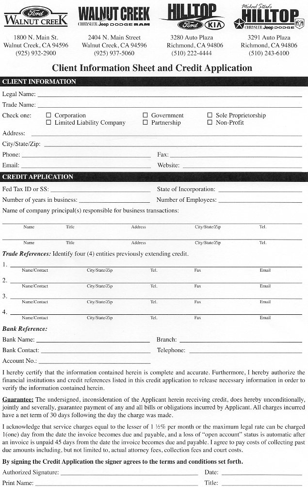 Fleet Business Application | Walnut Creek Ford