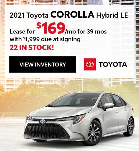 New 2021 Corolla Hybrid LE