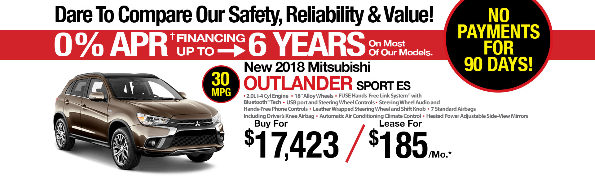 New Mitsubishi Outlander Sport ES AWC Lease Special at Michaud Mitsubishi