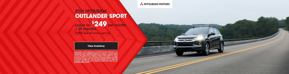 2021 MITSUBISHI OUTLANDER SPORT - $249 Lease