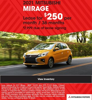 2021 MITSUBISHI MIRAGE - $250 Lease