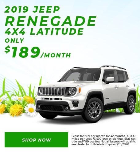 2019 Renegade Lease