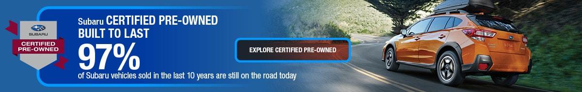 Subaru Certified Pre-Owned - Built to Last