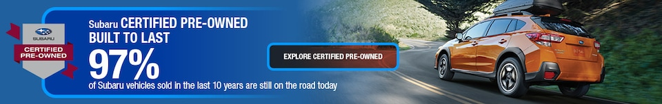 Subaru Certified Pre-Owned - Built to Last