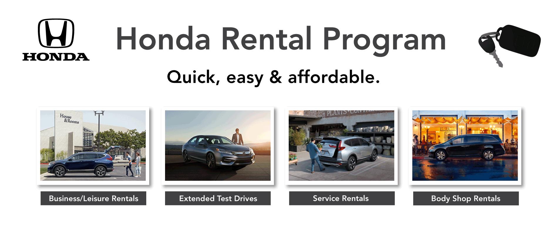 New Honda Rental Cars Middlekauff Honda