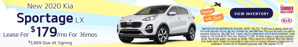 June 2020 Sportage Lease