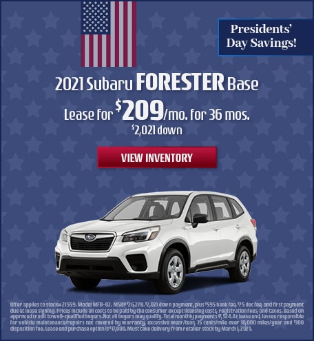 Subaru Forester Lease Special Offer