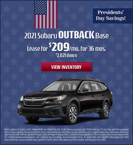 Subaru Outback Lease Special Offer