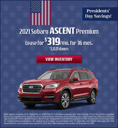Subaru Ascent Lease Special Offer
