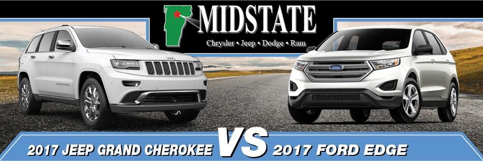 Jeep Grand Cherokee Vs  Ford Edge In Barre Vt