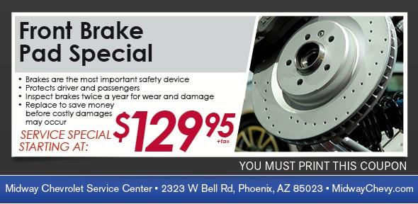 Power Stop Brake Pads >> Brake Pad Service Coupon | Service Specials in Phoenix AZ ...
