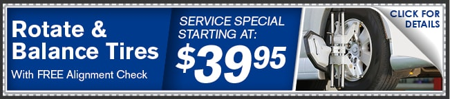 Rotate & Balance Tires Coupon, Phoenix