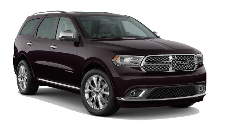 A dark red 2020 Dodge Durango Citadel