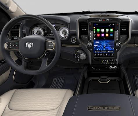 The dashboard on the 2019 Ram 1500 Limited