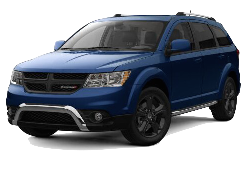 A blue Dodge Journey Crossroad