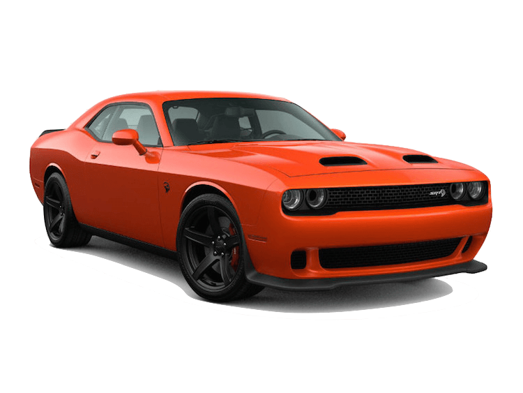 An Orange 2020 Dodge Challenger SRT Hellcat