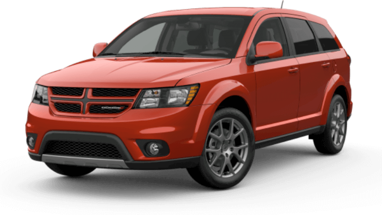 An orange 2019 Dodge Journey