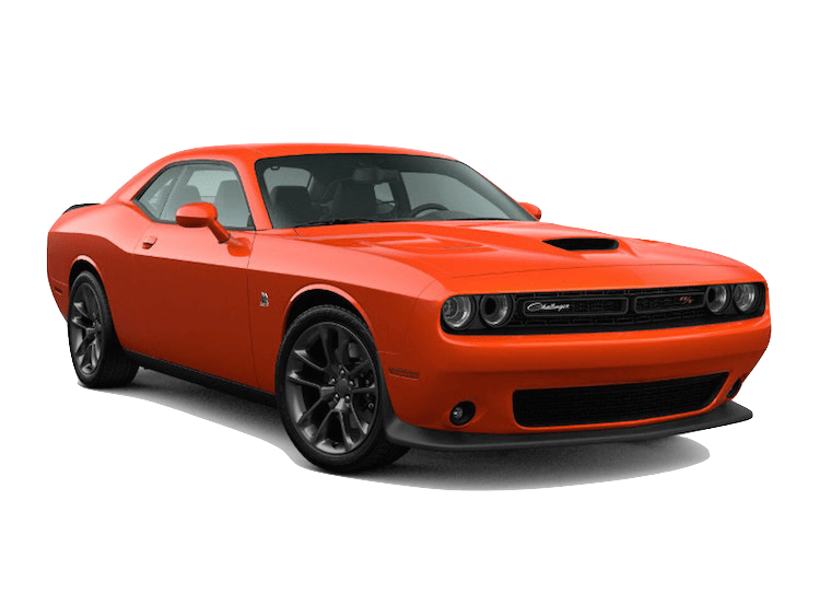 An orange 2020 Dodge Challenger R/T Scat Pack