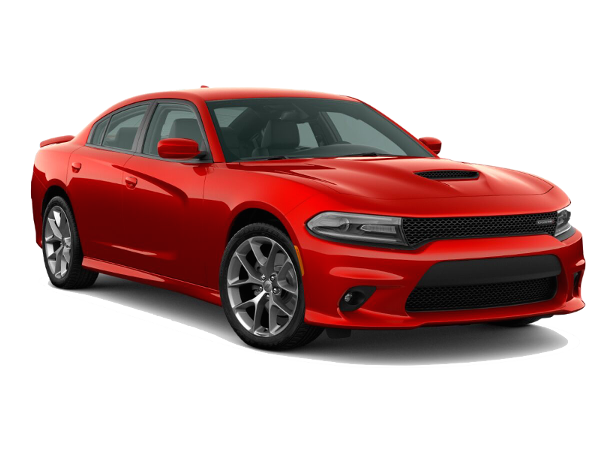 A red Dodge Charger GT