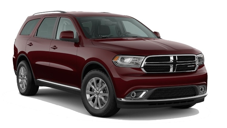 A red 2020 Dodge Durango SXT Plus