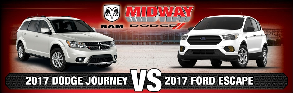 2017 Dodge Journey vs. 2017 Ford Escape in Chicago, IL