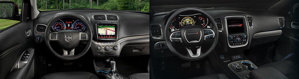 Dodge Journey And Dodge Durango Interior Dashboards