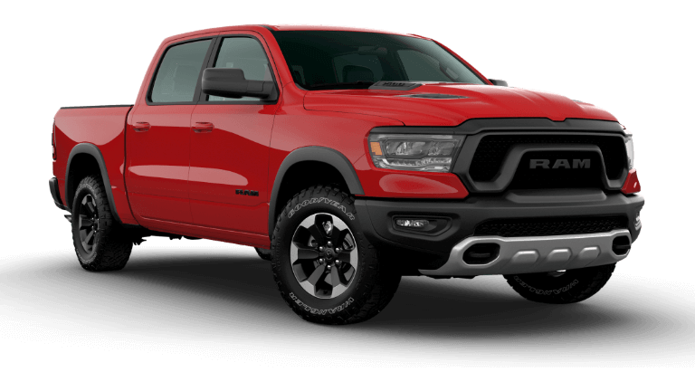 A red 2020 Ram 1500 Rebel