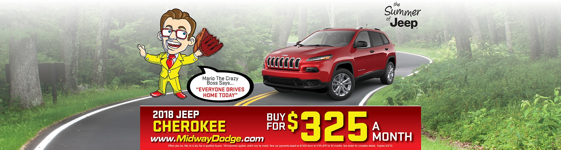 Red 2018 Jeep Cherokee