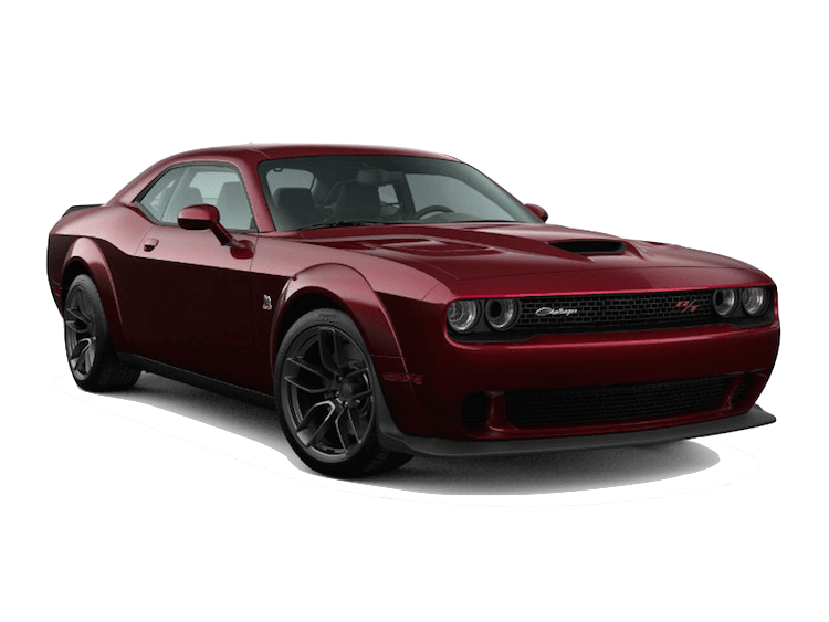 A red 2020 Dodge Challenger R/T Scat Pack Widebody