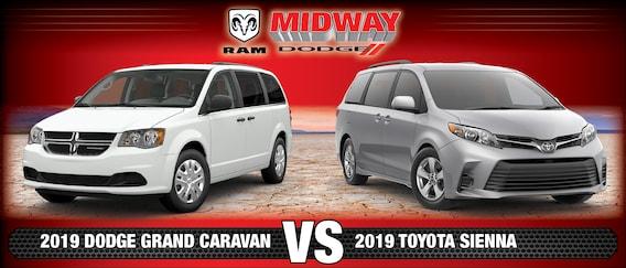 dodge grand caravan vs toyota sienna 2 Dodge Grand Caravan vs. Toyota Sienna  Minivan Comparison