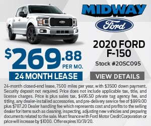 2020 Ford F150 $269.88 Lease Special