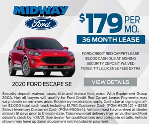 2020 Ford Escape $179 January Special