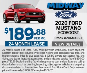 2020 Ford Mustang EcoBoost $189.88 Lease Special