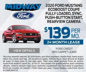 2020 Ford Mustang $139 April Special