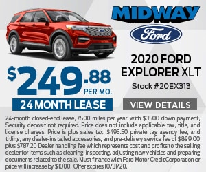 2020 Ford Explorer $249.88 Lease Special
