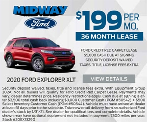 2020 Ford Explorer $199 January Special