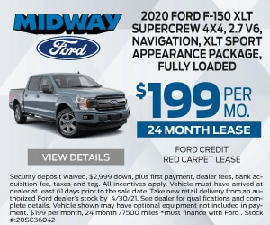 2020 Ford F150 $199 April Special