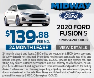 2020 Ford Fusion $139.88 Lease Special