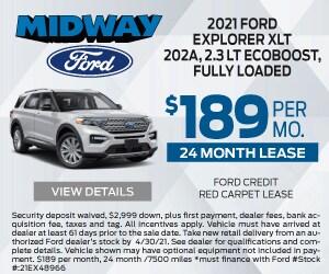 2021 Ford Explorer $189 April Special
