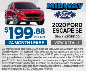 2020 Ford Escape $199 Lease Special