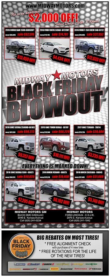 Black Friday Blowout, All Month Long! | Midway Motors