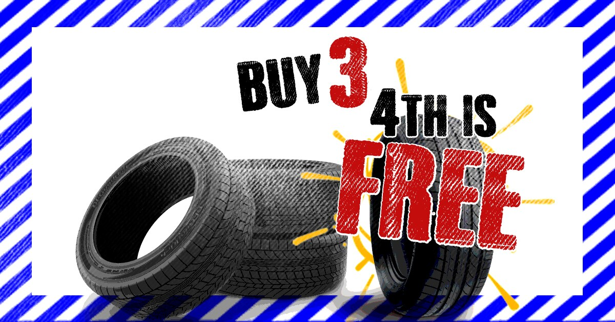 Buy 3 Get 1 Free Tire Special Midway Motors