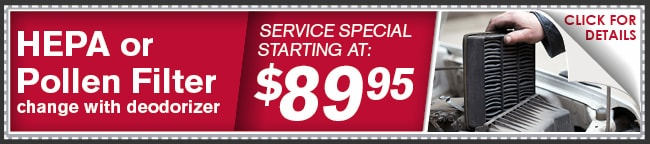 Pollen Filter Coupon, Phoenix Automotive Service