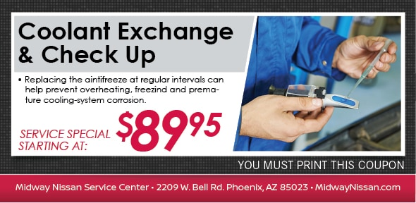 Coolant Flush Special, Phoenix, AZ Automotive Service Coupon