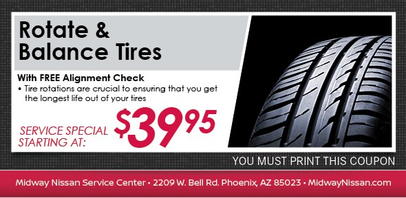 Rotate-Balance Tires Special, Phoenix, AZ Automotive Service Coupon