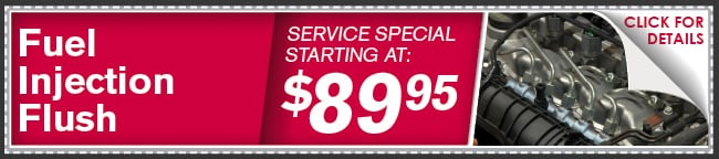 Fuel Injection Service Check Coupon, Phoenix Automotive Service