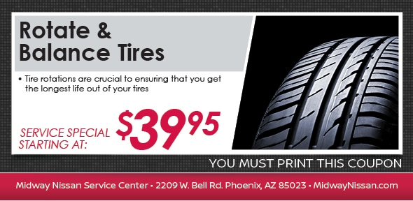Rotate Balance Tires Coupon Phoenix Tire Service