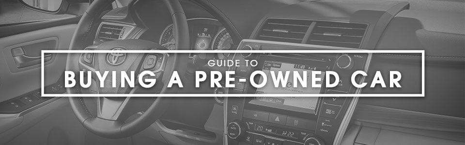Guide to buying pre-owned