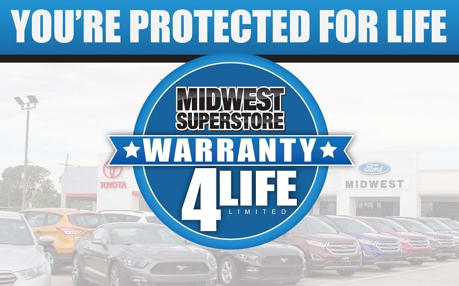 Warranty 4 Life Limited Powertrain Warranty only at Midwest Superstore in Hutchinson, KS