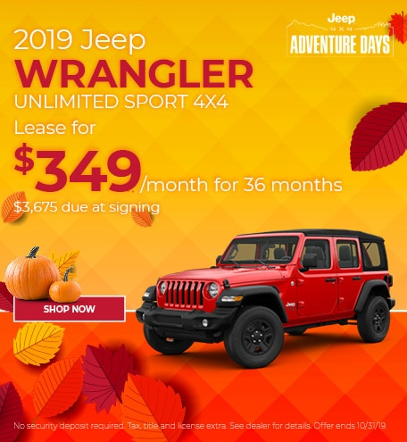 Jeep Wrangler October Special